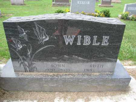 WIBLE, JOHN - Union County, Ohio | JOHN WIBLE - Ohio Gravestone Photos
