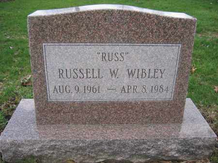 WIBLEY, RUSSELL W. - Union County, Ohio | RUSSELL W. WIBLEY - Ohio Gravestone Photos