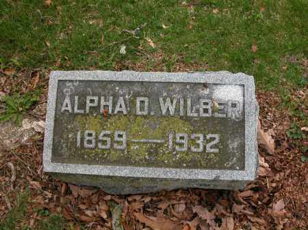 WILBER, ALPHA D. - Union County, Ohio | ALPHA D. WILBER - Ohio Gravestone Photos