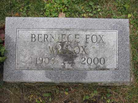 WILCOX, BERNICE FOX - Union County, Ohio | BERNICE FOX WILCOX - Ohio Gravestone Photos