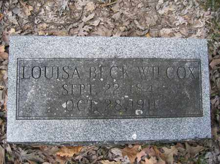 WILCOX, LOUISA BECK - Union County, Ohio | LOUISA BECK WILCOX - Ohio Gravestone Photos
