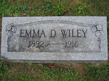 WILEY, EMMA D. - Union County, Ohio | EMMA D. WILEY - Ohio Gravestone Photos