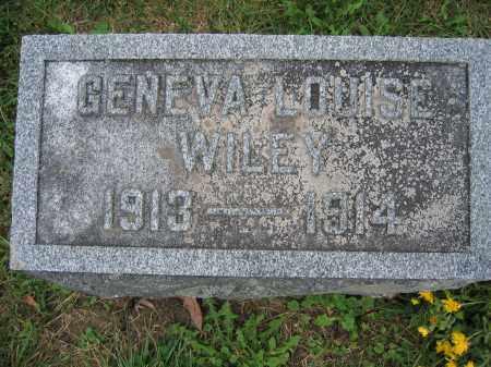 WILEY, GENEVA LOUISE - Union County, Ohio | GENEVA LOUISE WILEY - Ohio Gravestone Photos