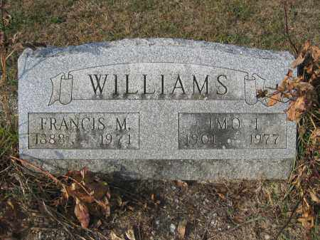 WILLIAMS, IMO I. - Union County, Ohio | IMO I. WILLIAMS - Ohio Gravestone Photos