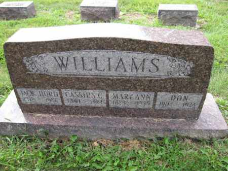 WILLIAMS, CASSIUS C. - Union County, Ohio | CASSIUS C. WILLIAMS - Ohio Gravestone Photos
