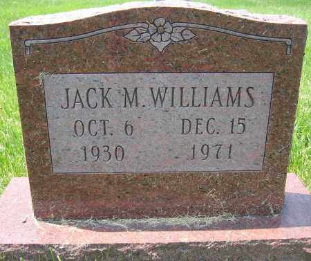 WILLIAMS, JACK M. - Union County, Ohio | JACK M. WILLIAMS - Ohio Gravestone Photos