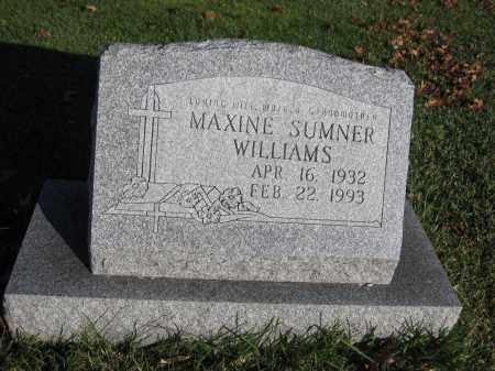 WILLIAMS, MAXINE SUMNER - Union County, Ohio | MAXINE SUMNER WILLIAMS - Ohio Gravestone Photos