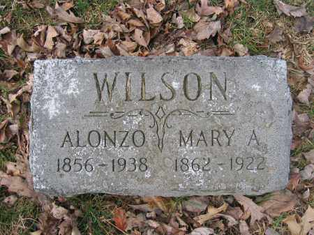 WILSON, MARY A. - Union County, Ohio | MARY A. WILSON - Ohio Gravestone Photos