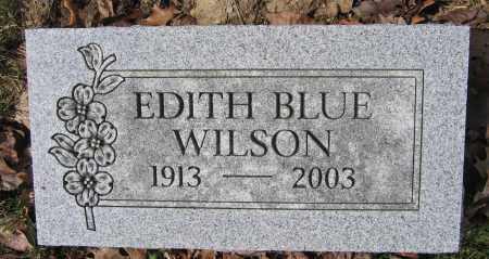 WILSON, EDITH BLUE - Union County, Ohio | EDITH BLUE WILSON - Ohio Gravestone Photos