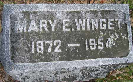 WINGET, MARY E. - Union County, Ohio | MARY E. WINGET - Ohio Gravestone Photos