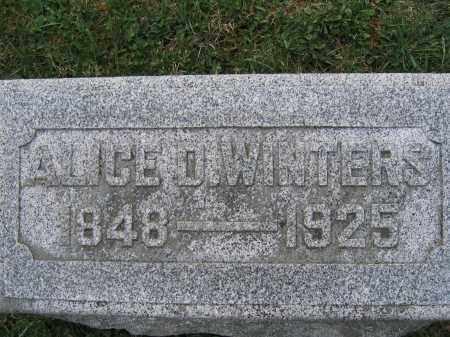 WINTERS, ALICE D. - Union County, Ohio | ALICE D. WINTERS - Ohio Gravestone Photos