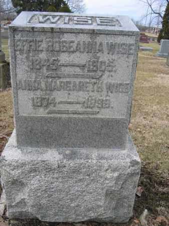 WISE, EFFIE ROSEANNA - Union County, Ohio | EFFIE ROSEANNA WISE - Ohio Gravestone Photos