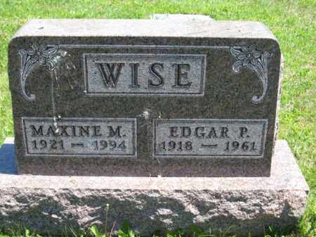 WISE, EDGAR P. - Union County, Ohio | EDGAR P. WISE - Ohio Gravestone Photos