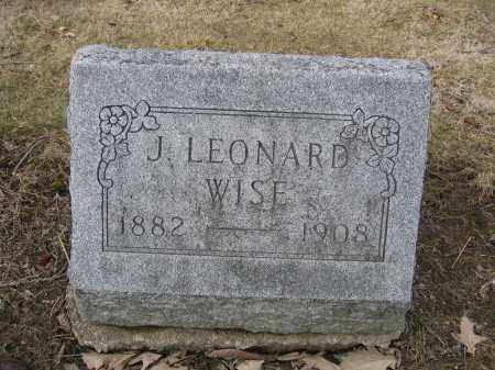 WISE, J. LEONARD - Union County, Ohio | J. LEONARD WISE - Ohio Gravestone Photos