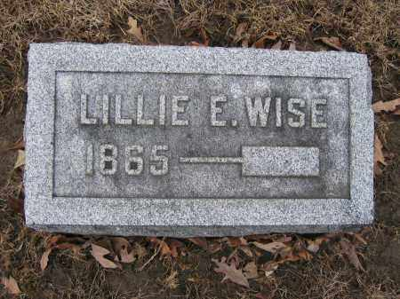 WISE, LILLIE E. - Union County, Ohio | LILLIE E. WISE - Ohio Gravestone Photos