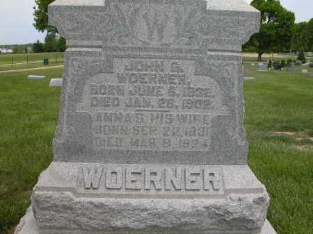 WOERNER, ANNA S. - Union County, Ohio | ANNA S. WOERNER - Ohio Gravestone Photos