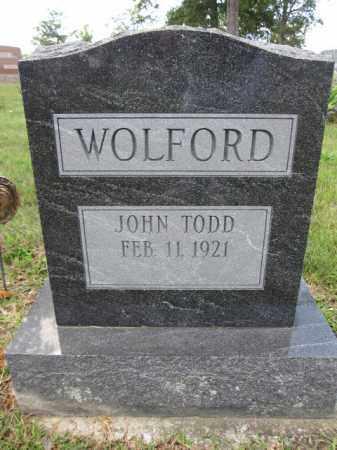 WOLFORD, JOHN TODD - Union County, Ohio | JOHN TODD WOLFORD - Ohio Gravestone Photos