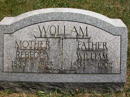 WOLLAM, REBECCA - Union County, Ohio | REBECCA WOLLAM - Ohio Gravestone Photos