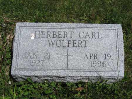 WOLPERT, HERBERT CARL - Union County, Ohio | HERBERT CARL WOLPERT - Ohio Gravestone Photos
