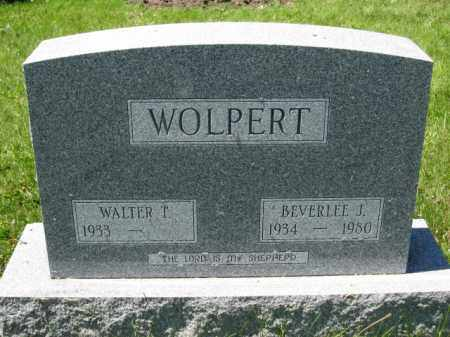 WOLPERT, BEVERLEE J. - Union County, Ohio | BEVERLEE J. WOLPERT - Ohio Gravestone Photos