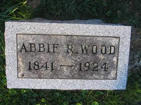 WOOD, ABBIE R. - Union County, Ohio | ABBIE R. WOOD - Ohio Gravestone Photos