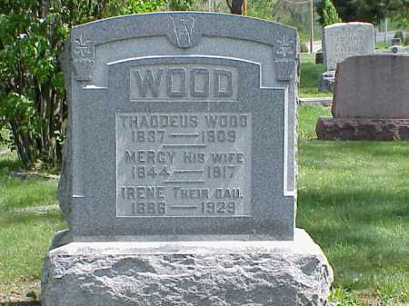 WOOD, IRENE - Union County, Ohio | IRENE WOOD - Ohio Gravestone Photos