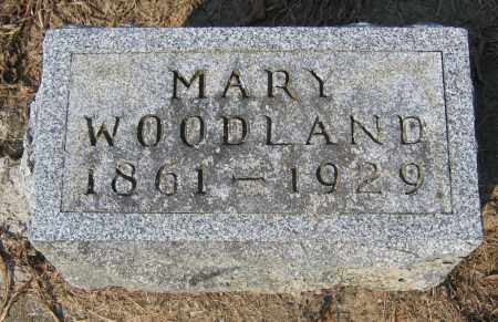 WOODLAND, MARY - Union County, Ohio | MARY WOODLAND - Ohio Gravestone Photos