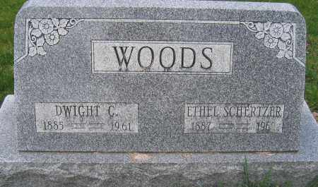 WOODS, ETHEL SCHERTZER - Union County, Ohio | ETHEL SCHERTZER WOODS - Ohio Gravestone Photos