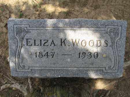WOODS, ELIZA K. - Union County, Ohio | ELIZA K. WOODS - Ohio Gravestone Photos