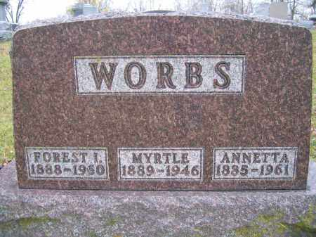 WORBS, MYRTLE - Union County, Ohio | MYRTLE WORBS - Ohio Gravestone Photos