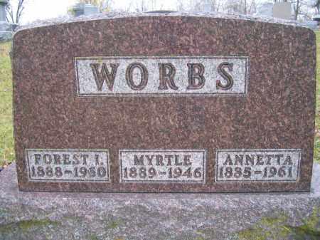 WORBS, ANNETTA - Union County, Ohio | ANNETTA WORBS - Ohio Gravestone Photos
