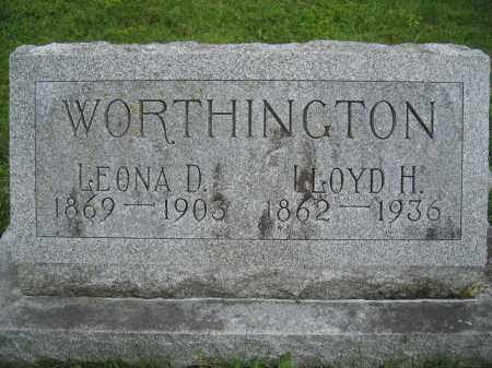 WORTHINGTON, LEONA D. - Union County, Ohio | LEONA D. WORTHINGTON - Ohio Gravestone Photos