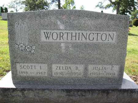 WORTHINGTON, ZELDA B. - Union County, Ohio | ZELDA B. WORTHINGTON - Ohio Gravestone Photos