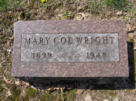 WRIGHT, MARY COE - Union County, Ohio | MARY COE WRIGHT - Ohio Gravestone Photos