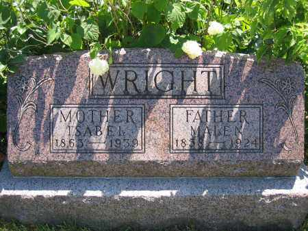 WRIGHT, MALEN - Union County, Ohio | MALEN WRIGHT - Ohio Gravestone Photos