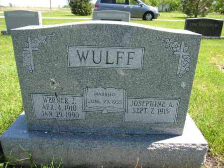 WULFF, WERNER J. - Union County, Ohio | WERNER J. WULFF - Ohio Gravestone Photos
