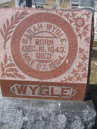 WYGLE, SARAH - Union County, Ohio | SARAH WYGLE - Ohio Gravestone Photos