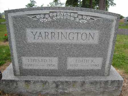 YARRINGTON, EDWARD H. - Union County, Ohio | EDWARD H. YARRINGTON - Ohio Gravestone Photos