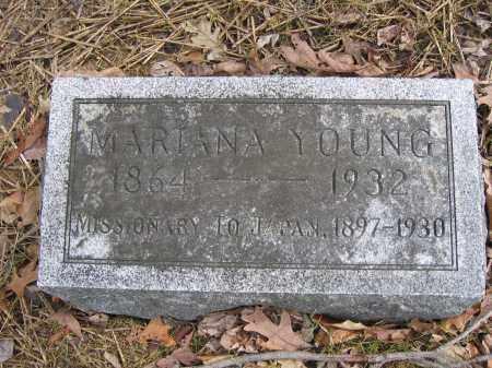 YOUNG, MARIANA - Union County, Ohio   MARIANA YOUNG - Ohio Gravestone Photos