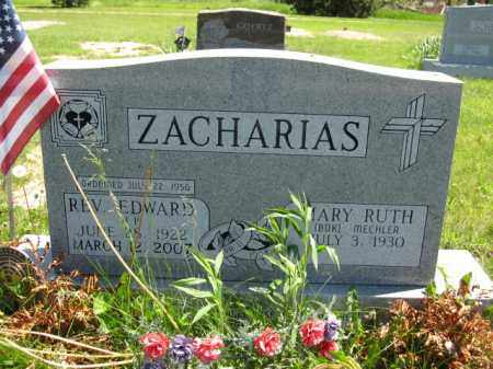 ZACHARIAS, MARY RUTH - Union County, Ohio | MARY RUTH ZACHARIAS - Ohio Gravestone Photos