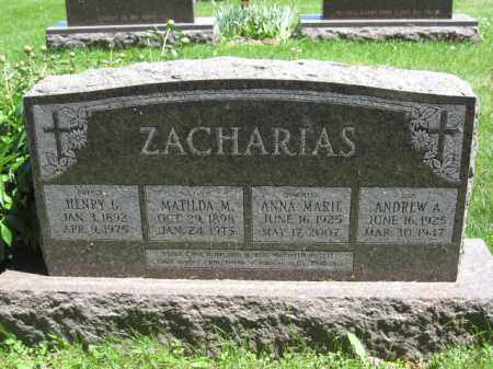 ZACHARIAS, ANDREW A. - Union County, Ohio | ANDREW A. ZACHARIAS - Ohio Gravestone Photos