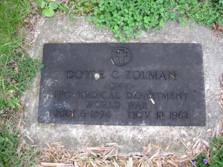 ZOLMAN, DOYLE C. - Union County, Ohio | DOYLE C. ZOLMAN - Ohio Gravestone Photos