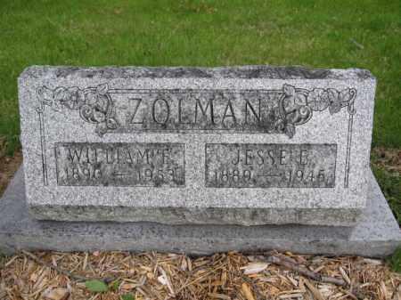 ZOLMAN, JESSE E. - Union County, Ohio | JESSE E. ZOLMAN - Ohio Gravestone Photos