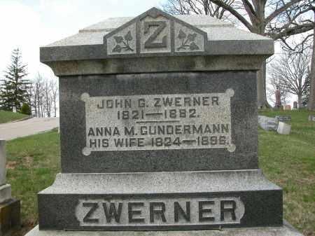 ZWERNER, ANNA M. - Union County, Ohio | ANNA M. ZWERNER - Ohio Gravestone Photos