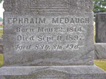 MEDAUGH, EPHRAIM - Van Wert County, Ohio | EPHRAIM MEDAUGH - Ohio Gravestone Photos