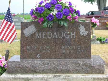 MEDAUGH, NILE CYE - Van Wert County, Ohio | NILE CYE MEDAUGH - Ohio Gravestone Photos