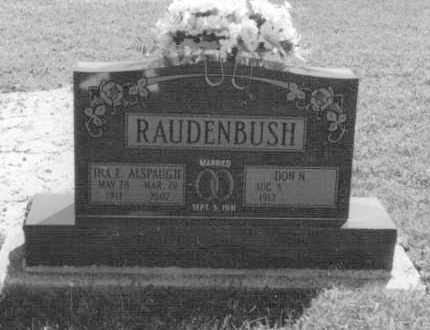 ALSPAUGH RAUDENBUSH, INA EVELYN - Van Wert County, Ohio | INA EVELYN ALSPAUGH RAUDENBUSH - Ohio Gravestone Photos