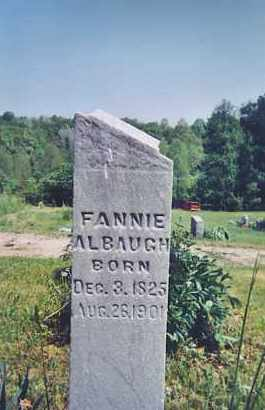 ALBAUGH, FANNIE - Vinton County, Ohio | FANNIE ALBAUGH - Ohio Gravestone Photos
