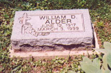 ALDER, WILLIAM D. - Vinton County, Ohio | WILLIAM D. ALDER - Ohio Gravestone Photos