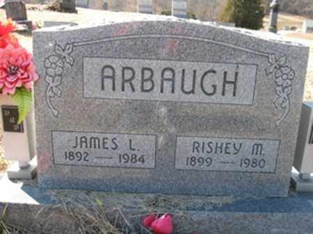 ARBAUGH, JAMES LEWIS & RISHEY MARGARET - Vinton County, Ohio | JAMES LEWIS & RISHEY MARGARET ARBAUGH - Ohio Gravestone Photos